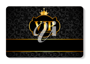 Gold VIP Members Card Vector Illustration EPS10
