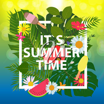 Summer Abstract Background Vector Illustration EPS10