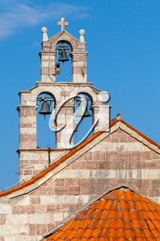 Bell tower of the Serbian Orthodox Church in the Gradiste monastery, Montenegro