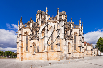 The Monastery of Batalha is a Dominican convent in the civil parish of Batalha, Portugal. Originally known as the Monastery of Saint Mary of the Victory.
