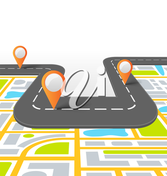 Road Vector Information Background with Map