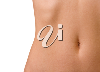 Woman's belly with navel