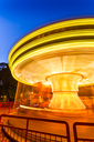 Fast merry-go-round lighting in the hight