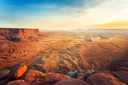 Landscape of Dead Horse Point State Park at sunset, Utah USA