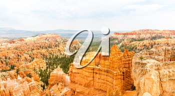 Landscape of Bryce Canyon from the top of mountain, National Park, Utah, USA
