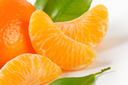detail of tangerine with separated segments