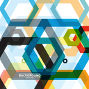 Vector background of large colored hexagons eps.