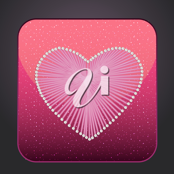 Icon heart for your design