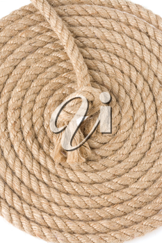 ship ropes isolated at white background