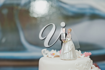 Royalty Free Photo of a Wedding Cake