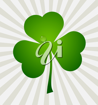 Clover leaf element background for happy St. Patricks Day