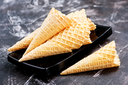 cone from waffle, cones for ice cream