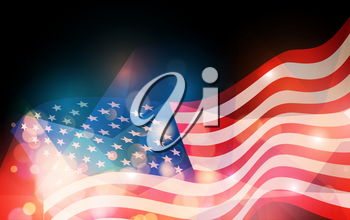 United States flag. Holiday background for USA Independence Day. Fourth of July celebrate
