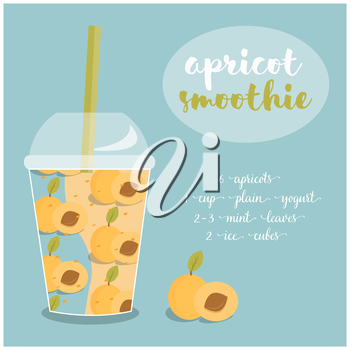 Royalty Free Clipart Image of an Apricot Smoothie