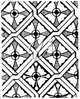 Royalty Free Clipart Image of a Repeating Pattern