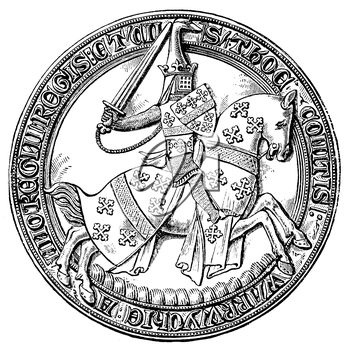 Royalty Free Clipart Image of a Medieval Coin