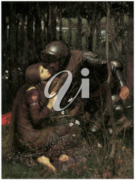 Royalty Free Clipart Image of La Belle Dame Sans Merci by John William Waterhouse