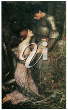 Royalty Free Clipart Image of Lamia by John William Waterhouse