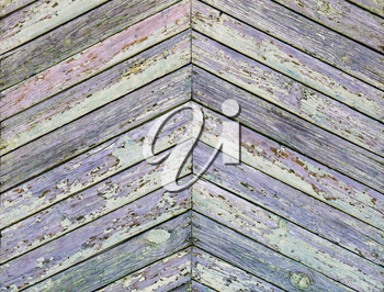Old grunge wooden planks background with peeling paint.