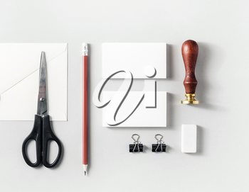 Blank branding identity set on paper background. Corporate identity template for placing your design. For design presentations and portfolios.