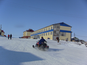 YAMAL, SYO-YAHA -  January 15, 2015: Appearance of the settlement of Syo-Yakh in the winter. North of Russia.