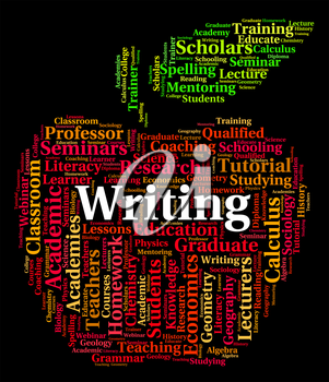 Writing Word Indicating Write Words And Publish