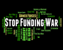 Stop Funding War Showing Military Action And Prohibit