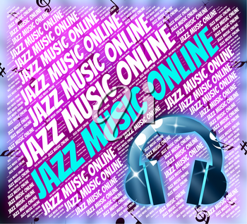 Jazz Music Online Showing Web Site And Concert