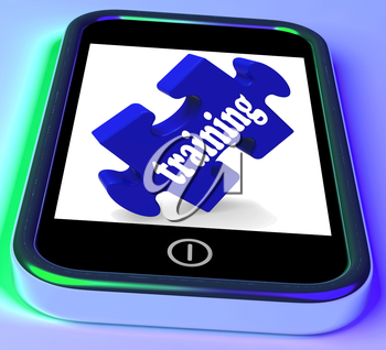 Training On Smartphone Showing Quick Lessons And Seminars