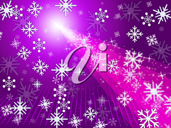 Mauve Pink Indicating Merry Xmas And Radiance