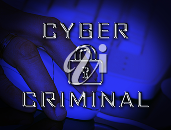 Cybercriminal Internet Hack Or Breach 2d Illustration Shows Online Fraud Using Malicious Malware Or Virtual Computer Theft