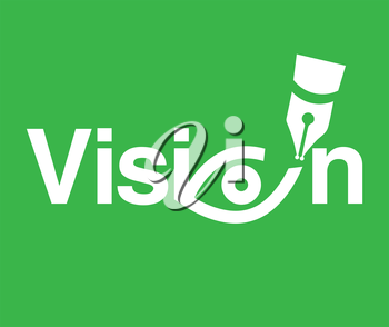 Vision Theme Logo Concept. AI 8 supported.