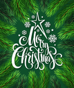 Christmas Tree Branches Border. Vector Illustration EPS10