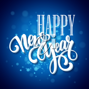 New Year greeting card. Blurred background. Vector illustration EPS 10