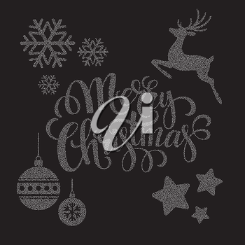 Christmas dots  elements. Vector illustration EPS 10