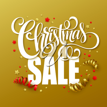 Christmas sale design template. Vector illustration EPS10
