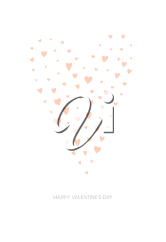 Happy Valentines Day Greeting Card. Vector illustration EPS10