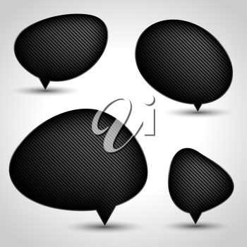 Abstract speech bubble vector background. Eps 10.