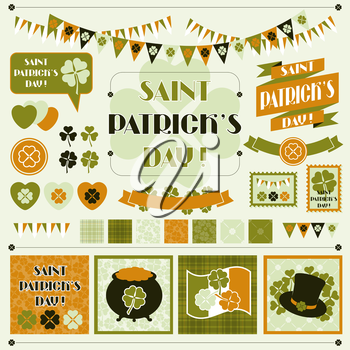 Collection design elements of Saint Patrick's Day.