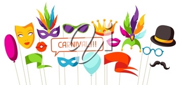 Carnival photo booth props. Accessories for festival and party.