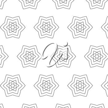 Primitive simple grey retro seamless pattern with lines and circles
