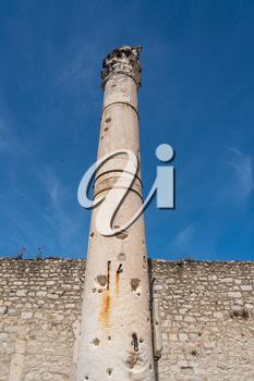 Pillar of Shame in the ancient old town of Zadar in Croatia