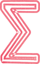 Abstract Sigma Sum Symbol made with red marker vector illustration