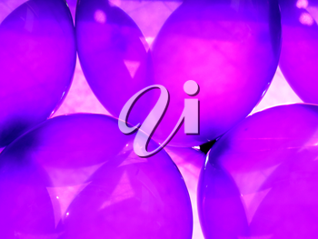 Birthday party balloons total purple