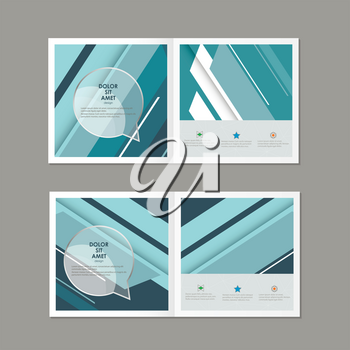 Abstract polygonal lines. Vector cover brochure.