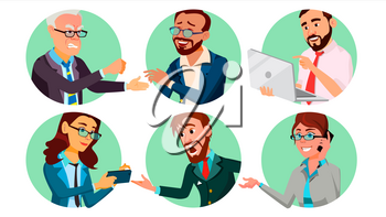 Business People In A Hole Vector. Society Behavior Concept. Isolated Flat Cartoon illustration