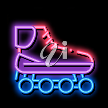 Rollers neon light sign vector. Glowing bright icon Rollers sign. transparent symbol illustration
